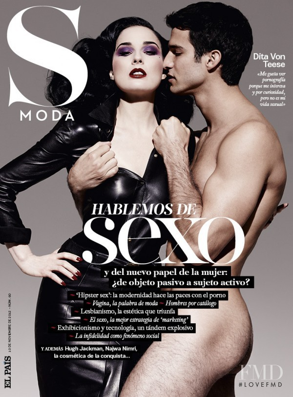 Dita Von Teese featured on the S Moda cover from November 2012