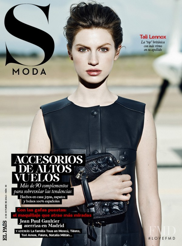 Tali Lennox featured on the S Moda cover from October 2012