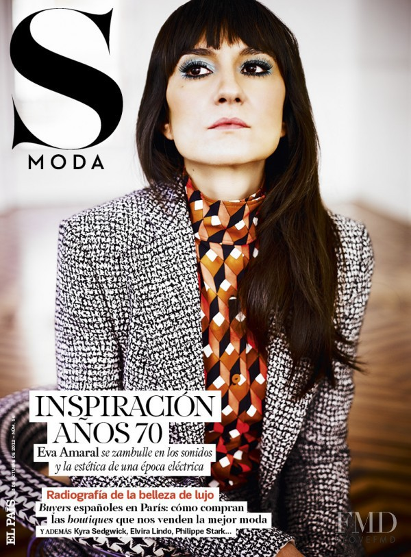 Eva Amaral  featured on the S Moda cover from October 2012