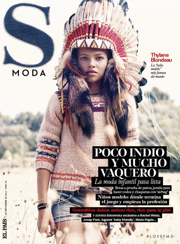 Thylane Blondeau featured on the S Moda cover from September 2012