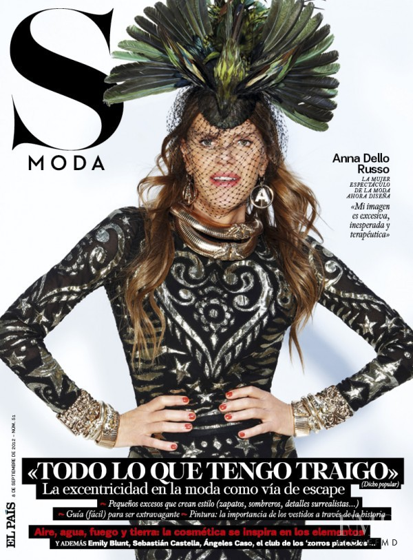 Anna Dello Russo  featured on the S Moda cover from September 2012