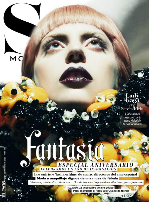 Lady Gaga featured on the S Moda cover from September 2012