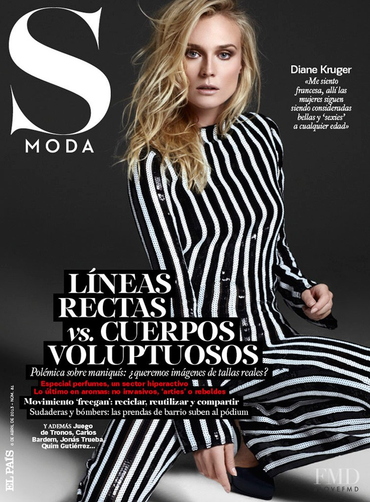 Diane Heidkruger featured on the S Moda cover from April 2013