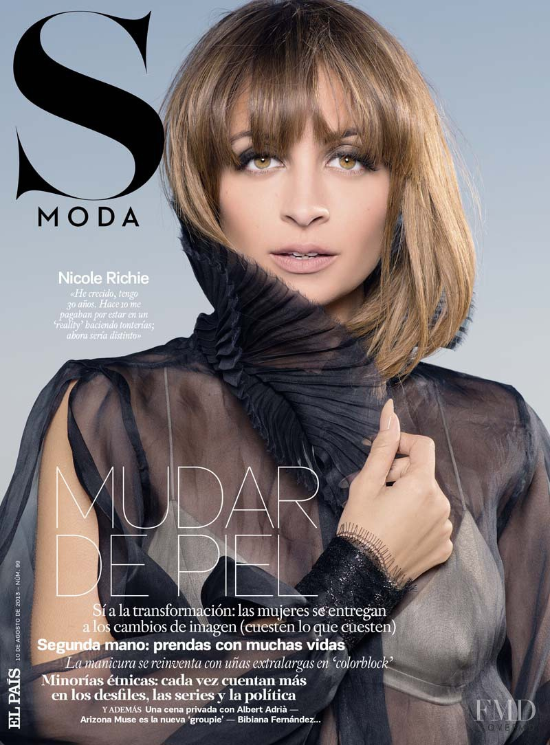 Nicole Richie featured on the S Moda cover from August 2013