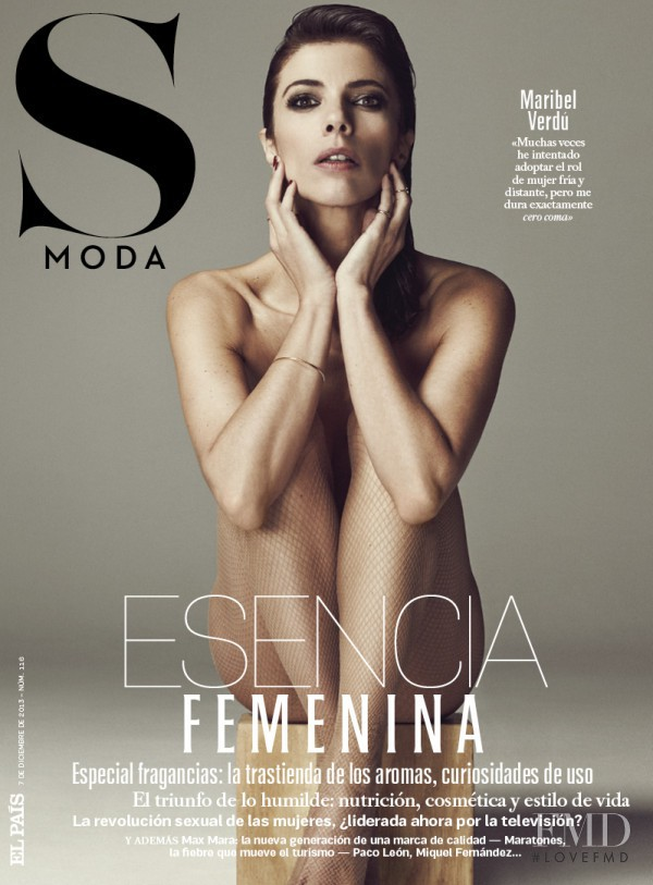 Maribel Verdú featured on the S Moda cover from December 2013