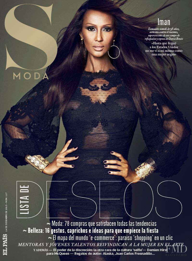 Iman Abdulmajid featured on the S Moda cover from December 2013