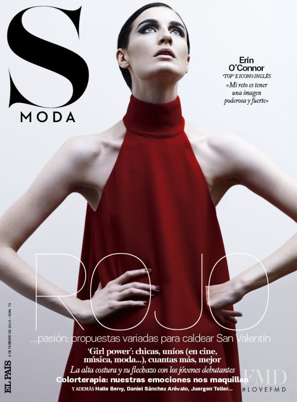 Erin O Connor featured on the S Moda cover from February 2013