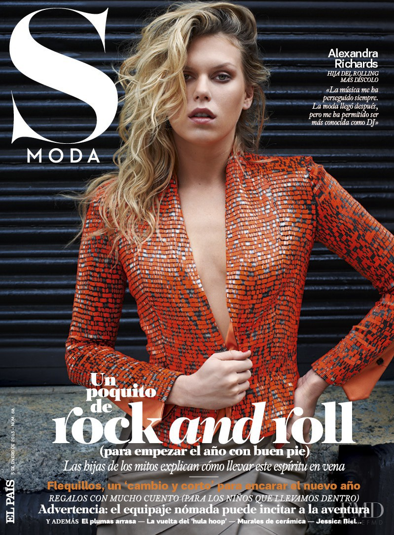 Alexandra Richards featured on the S Moda cover from January 2013