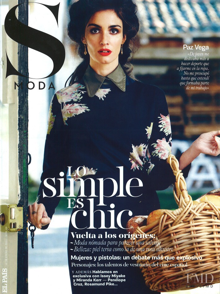 Paz Vega featured on the S Moda cover from January 2013