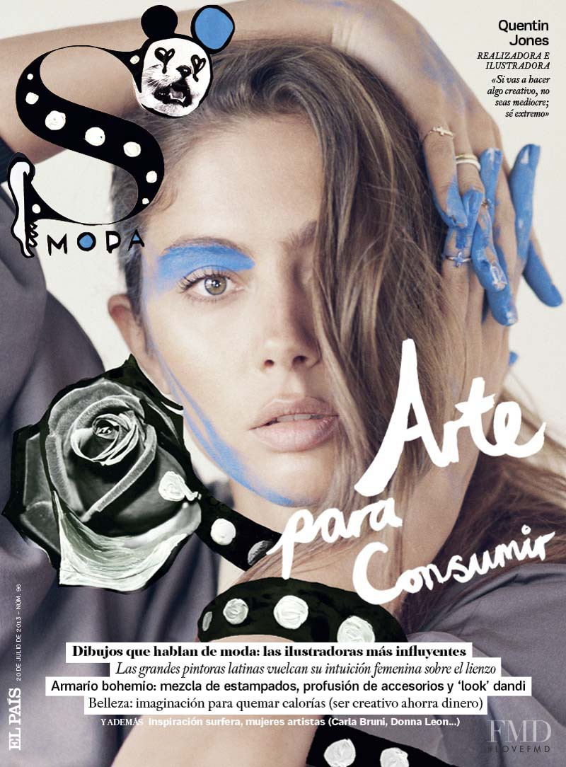 Quentin Jones featured on the S Moda cover from July 2013