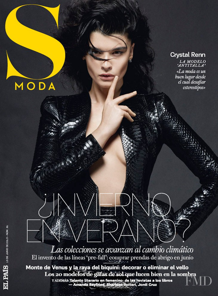 Crystal Renn featured on the S Moda cover from June 2013