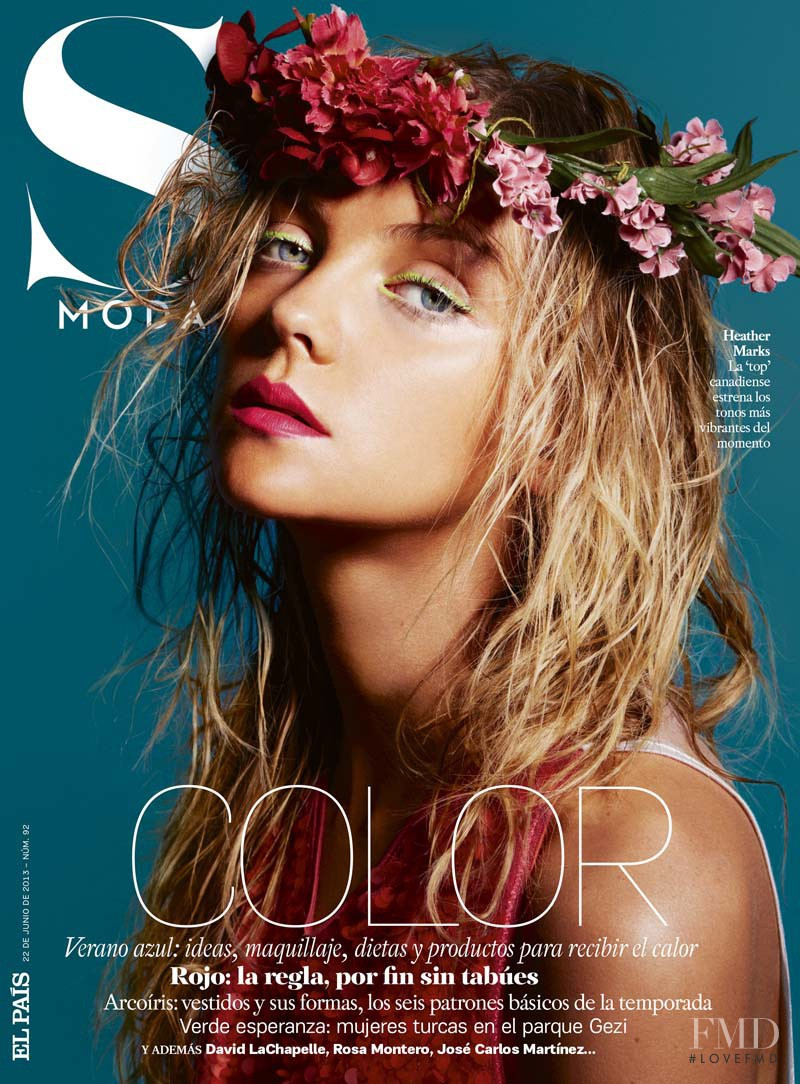 Heather Marks featured on the S Moda cover from June 2013