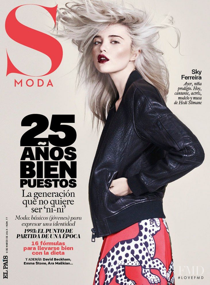 Sky Ferreira featured on the S Moda cover from March 2013
