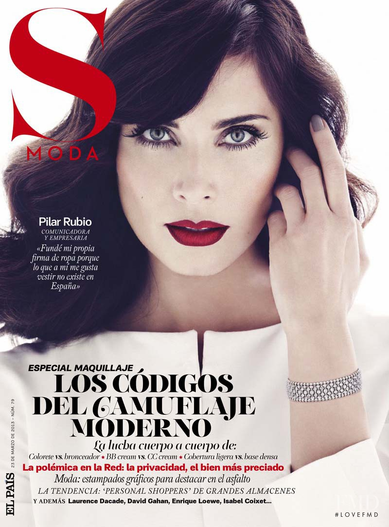 Pilar Rubio featured on the S Moda cover from March 2013