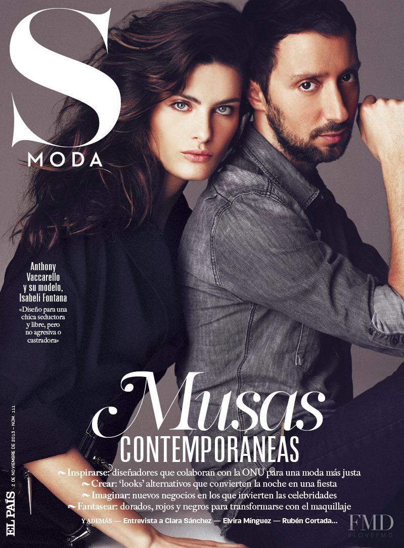 Anthony Vaccarello featured on the S Moda cover from November 2013