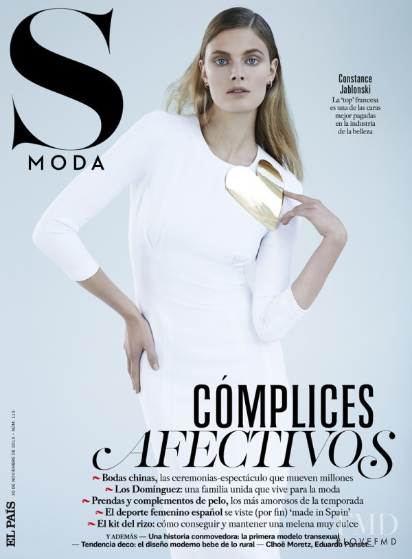 Constance Jablonski featured on the S Moda cover from November 2013