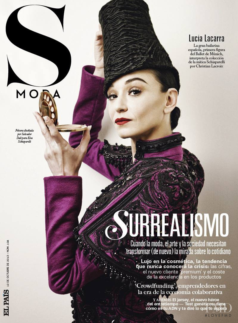 Lucia Lacarra featured on the S Moda cover from October 2013