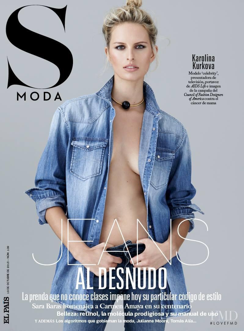 Karolina Kurkova featured on the S Moda cover from October 2013