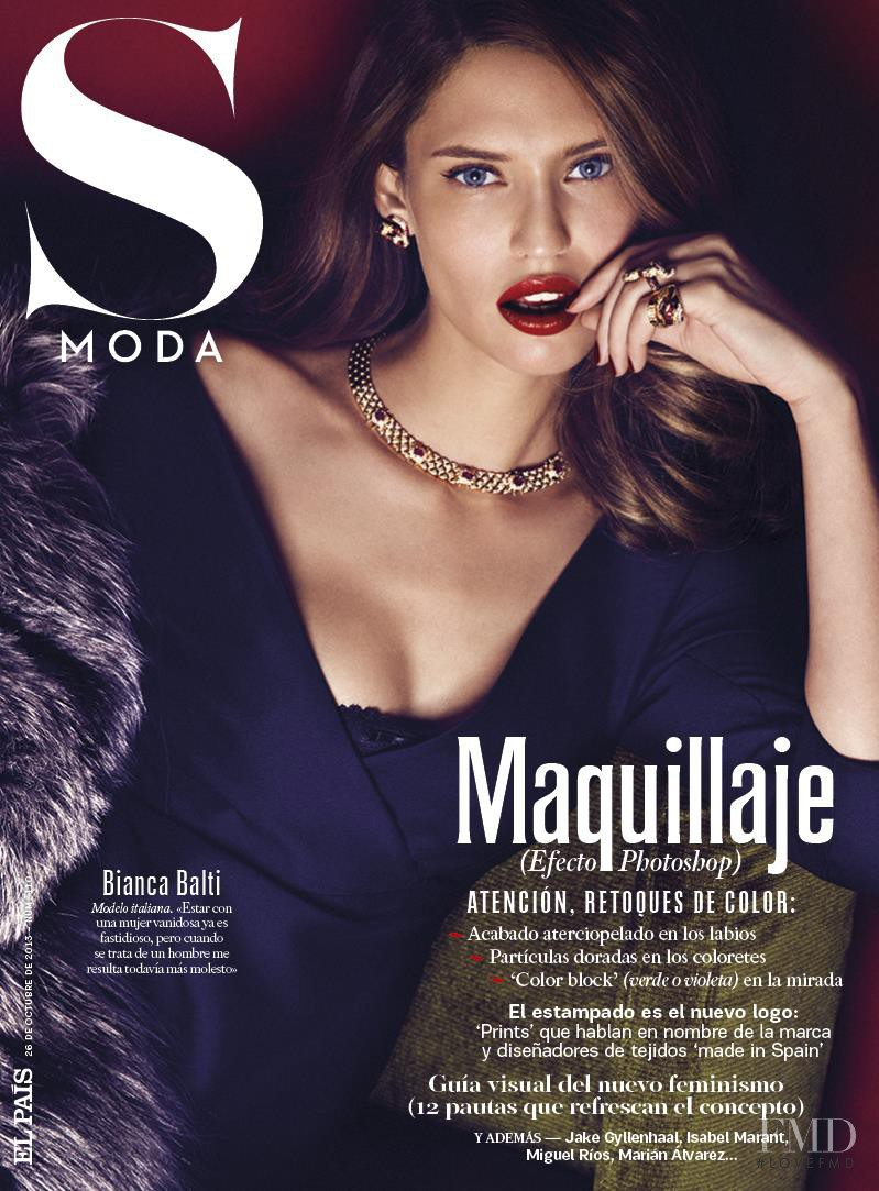 Bianca Balti featured on the S Moda cover from October 2013