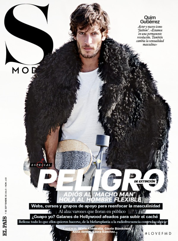 Quim Gutiérrez featured on the S Moda cover from September 2013
