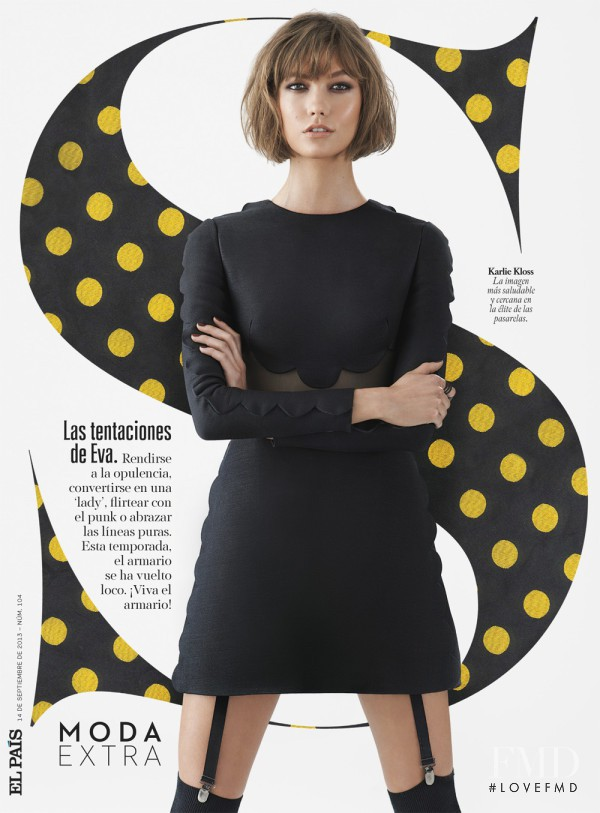 Karlie Kloss featured on the S Moda cover from September 2013