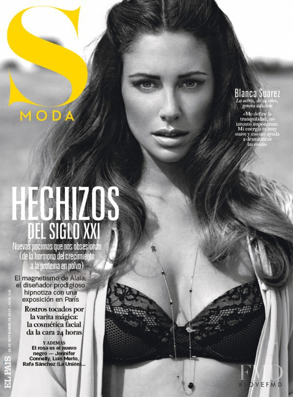 Blanca Suarez featured on the S Moda cover from September 2013