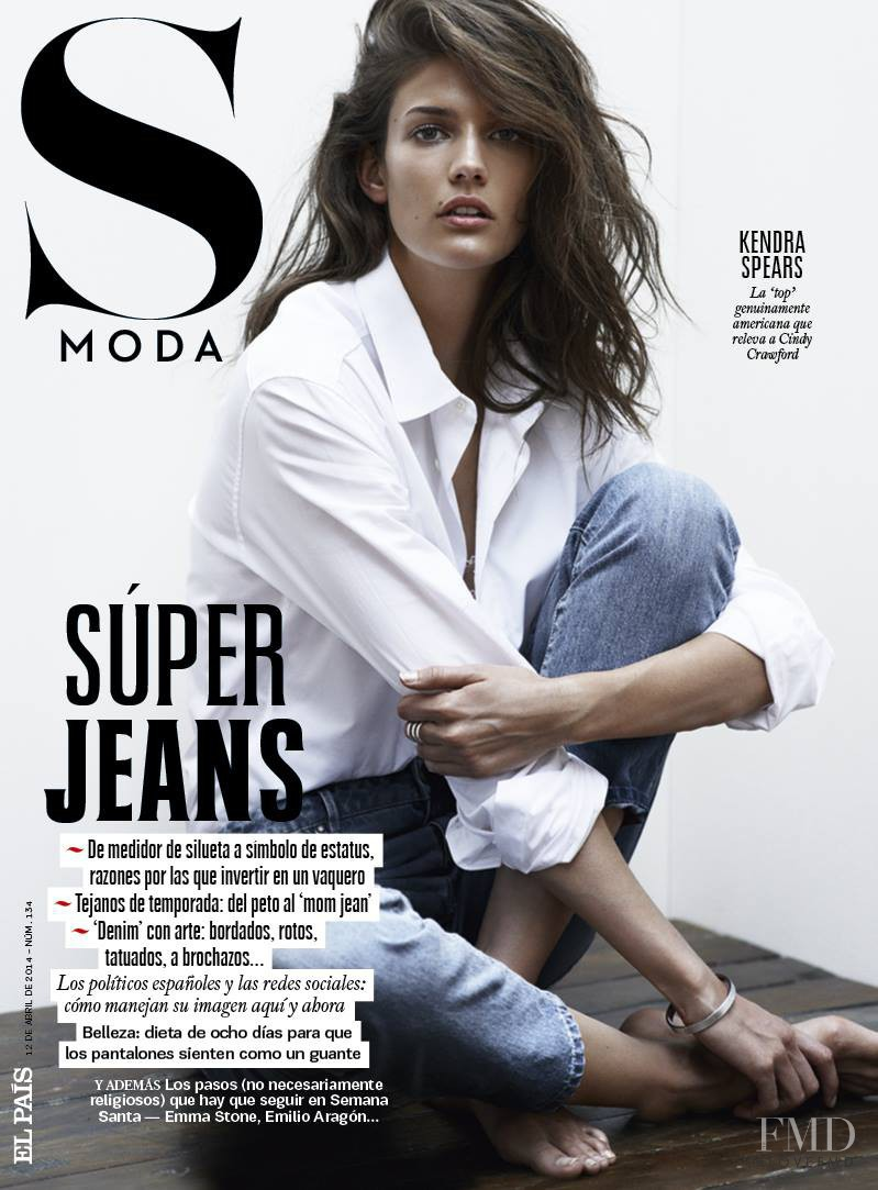 Kendra Spears featured on the S Moda cover from April 2014