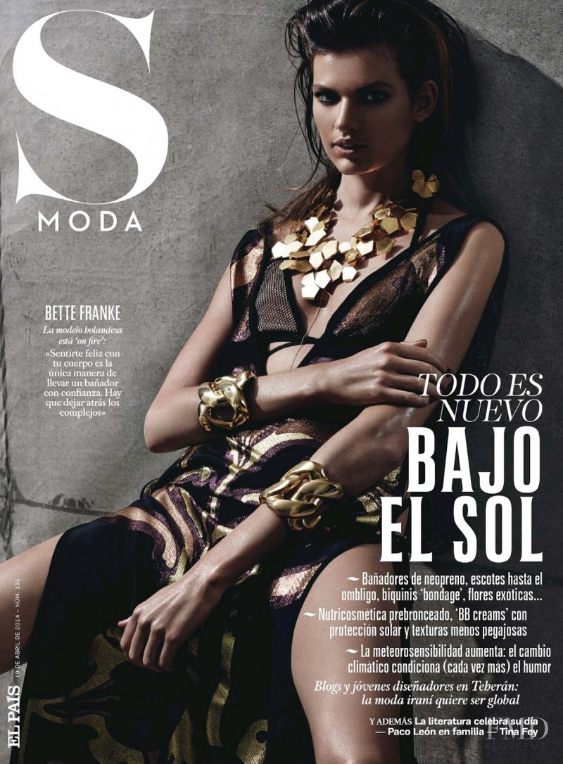Bette Franke featured on the S Moda cover from April 2014