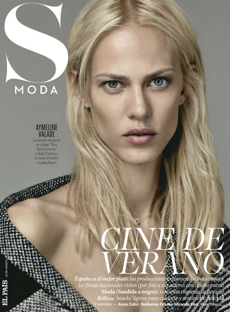 Aymeline Valade featured on the S Moda cover from August 2014