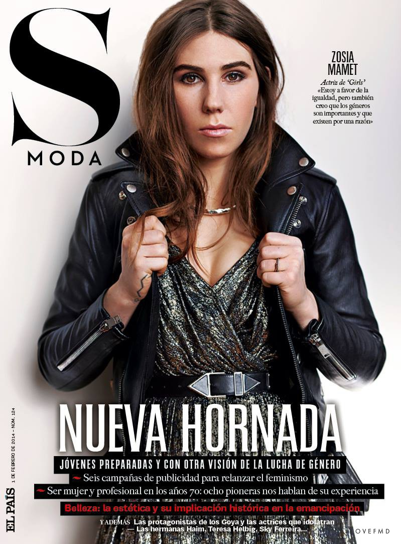 Zosia Mamet featured on the S Moda cover from February 2014