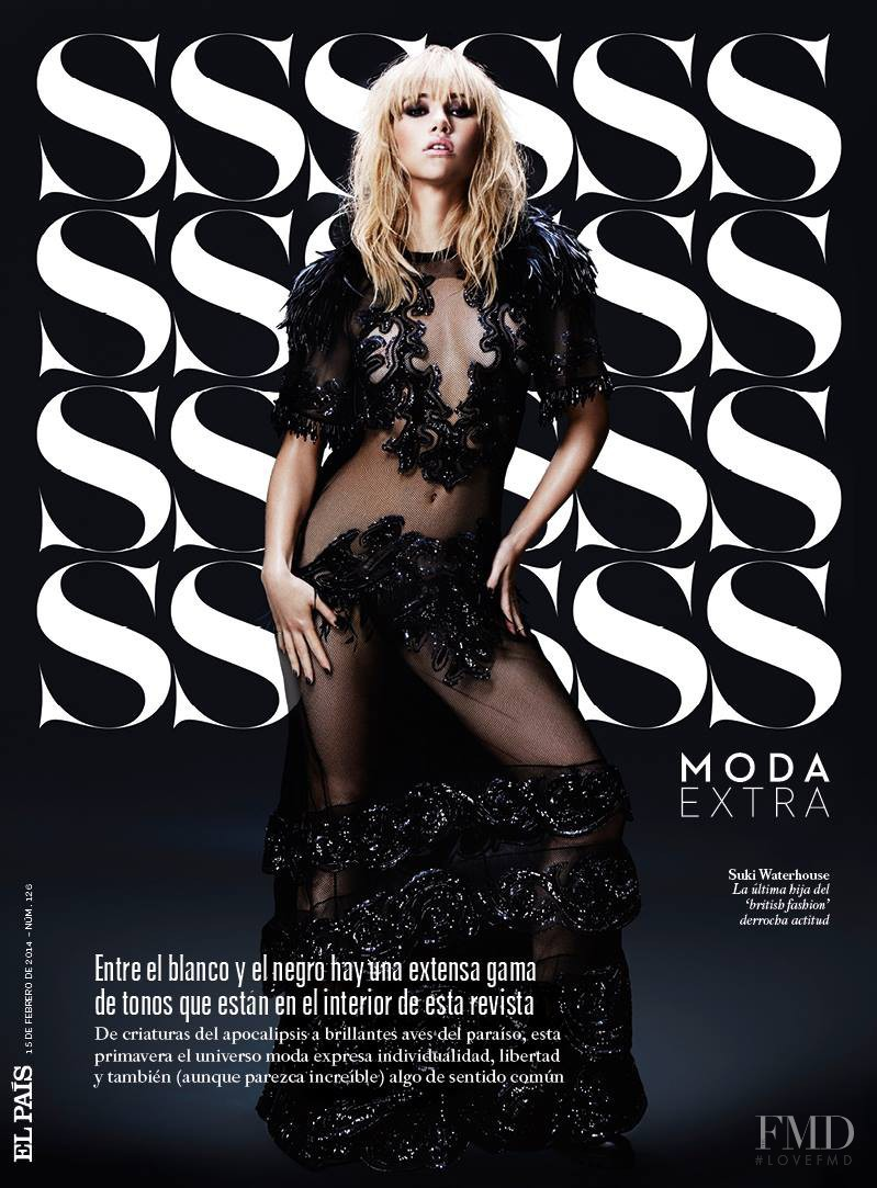 Suki Alice Waterhouse featured on the S Moda cover from February 2014