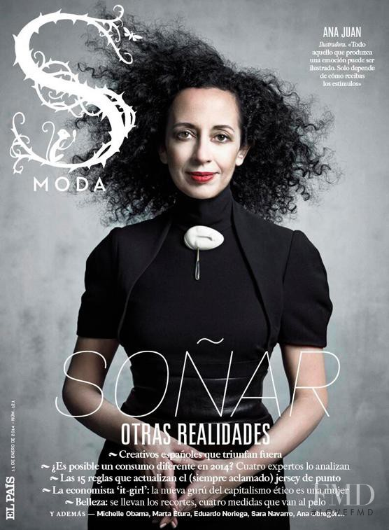 Ana Juan featured on the S Moda cover from January 2014