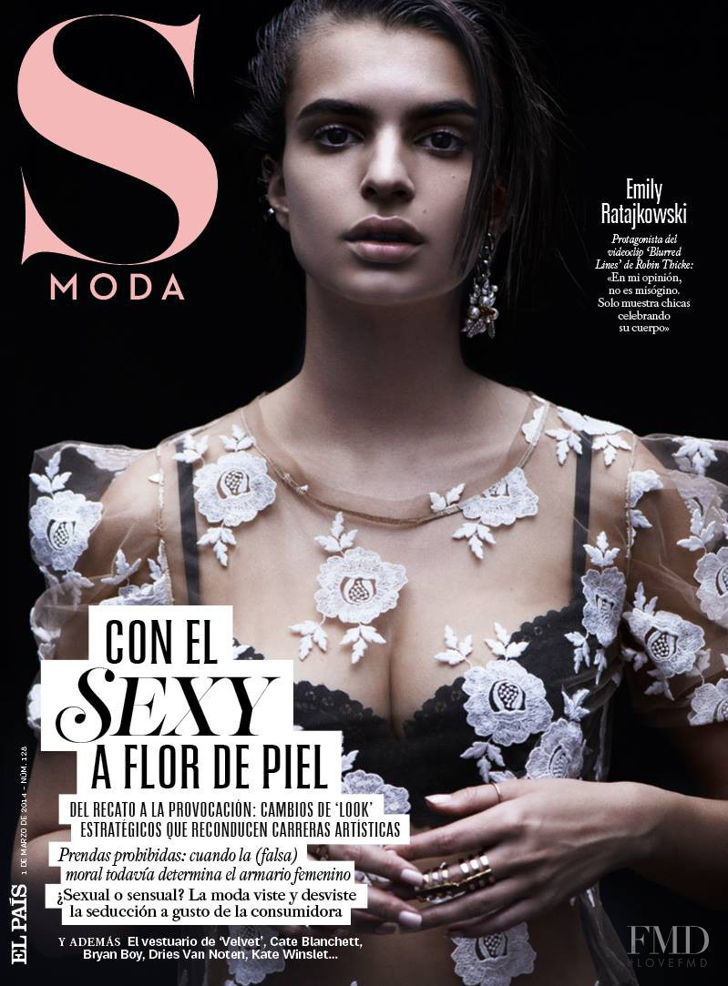 Emily Ratajkowski featured on the S Moda cover from March 2014