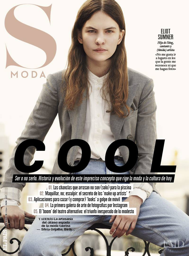 Eliot Sumner featured on the S Moda cover from May 2014