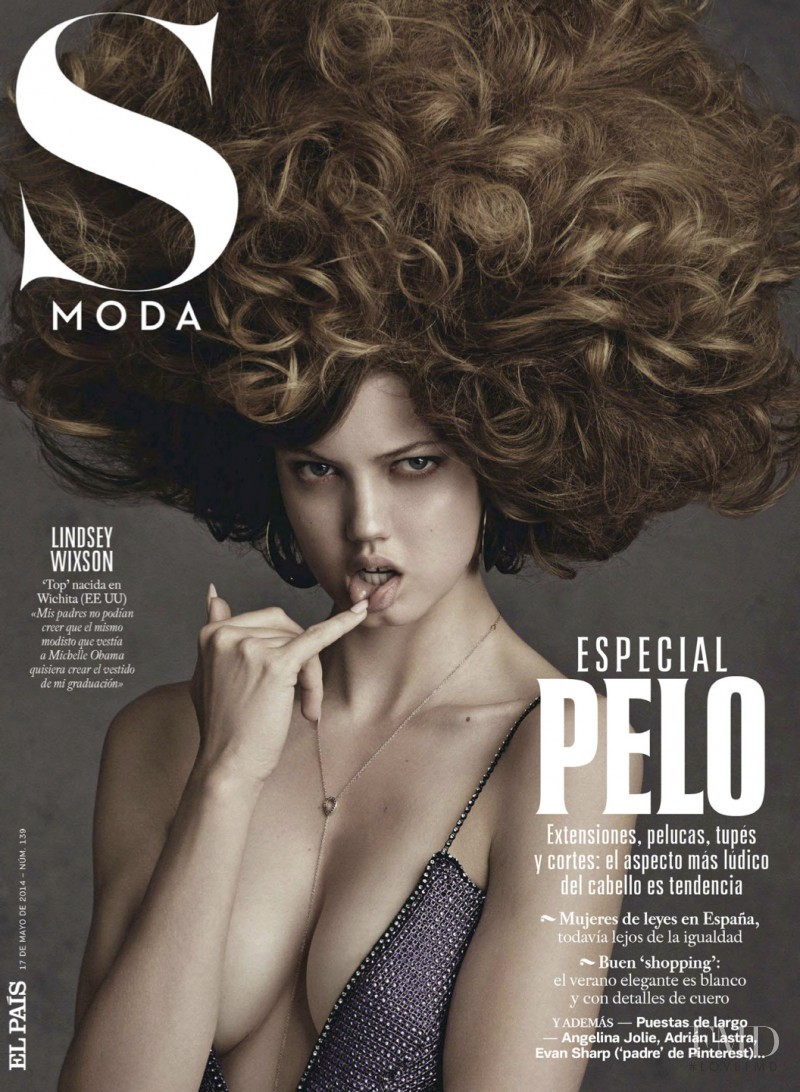 Lindsey Wixson featured on the S Moda cover from May 2014
