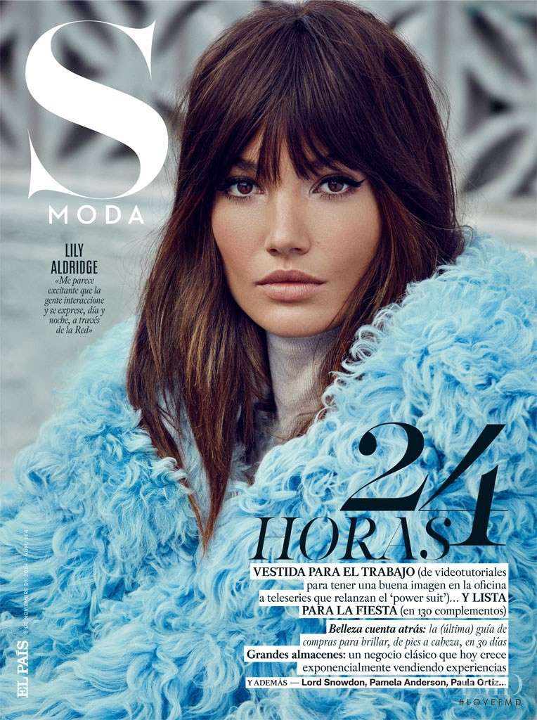 Lily Aldridge featured on the S Moda cover from November 2014