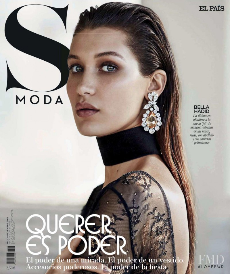 Bella Hadid featured on the S Moda cover from December 2015