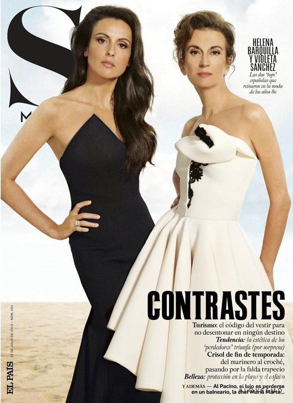 Violeta Sanchez, Helena Barquilla featured on the S Moda cover from July 2015