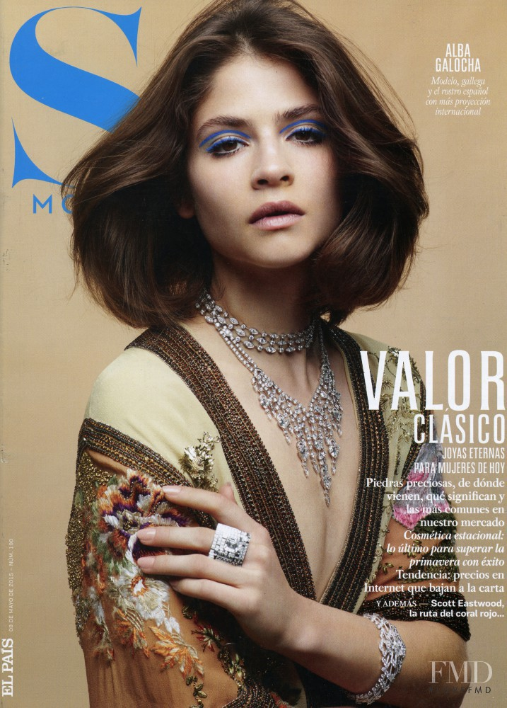 Alba Galocha featured on the S Moda cover from May 2015
