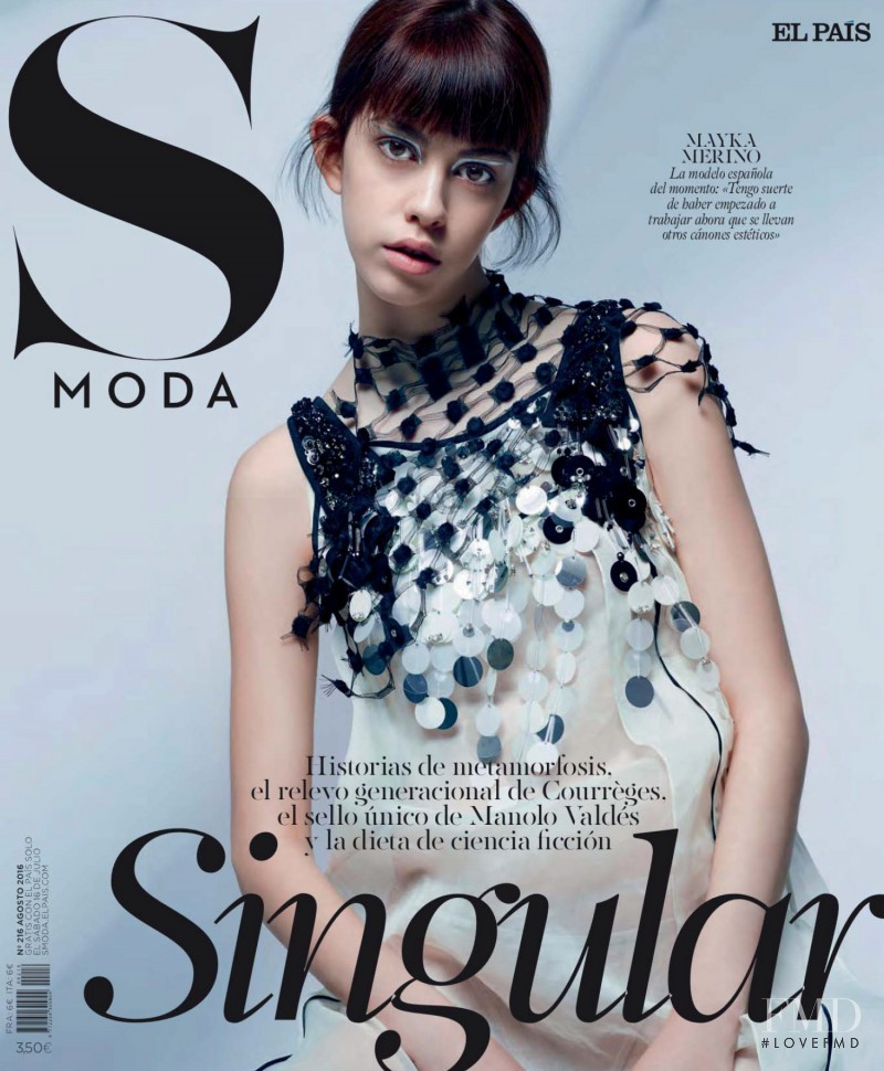 Mayka Merino featured on the S Moda cover from July 2016