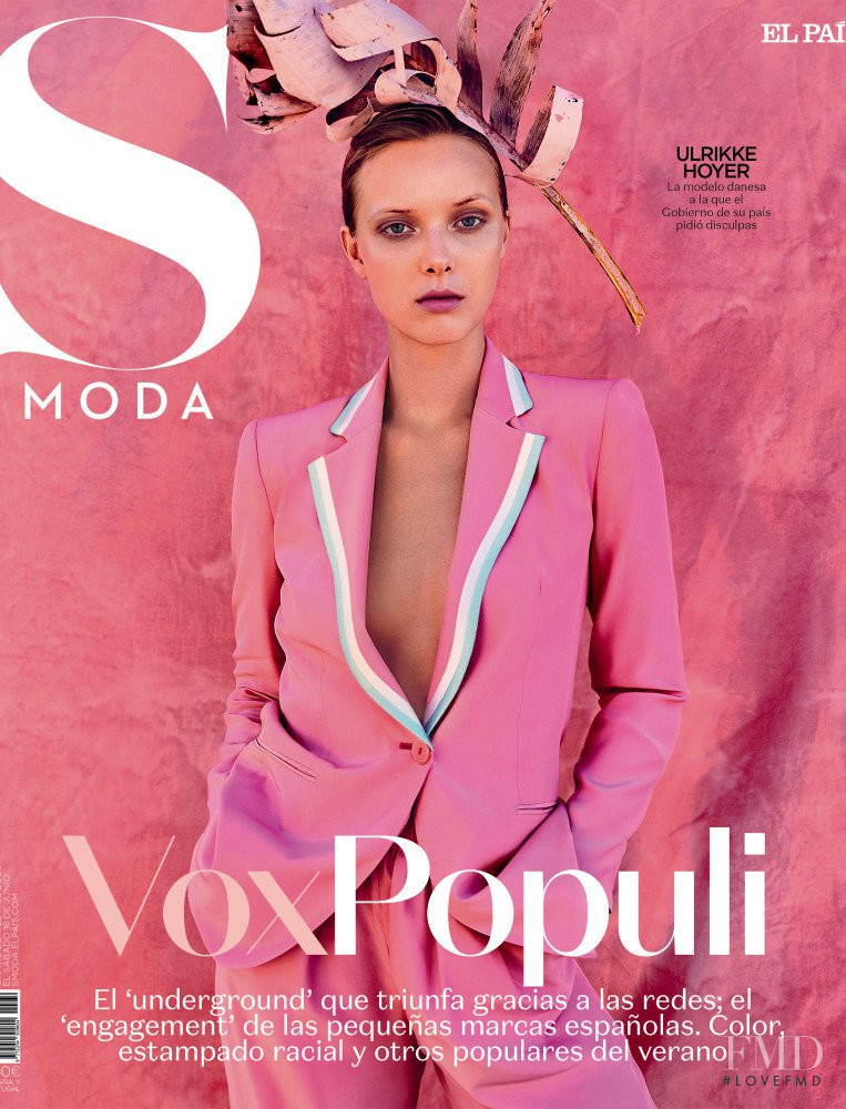 Ulrikke Hoyer featured on the S Moda cover from July 2018