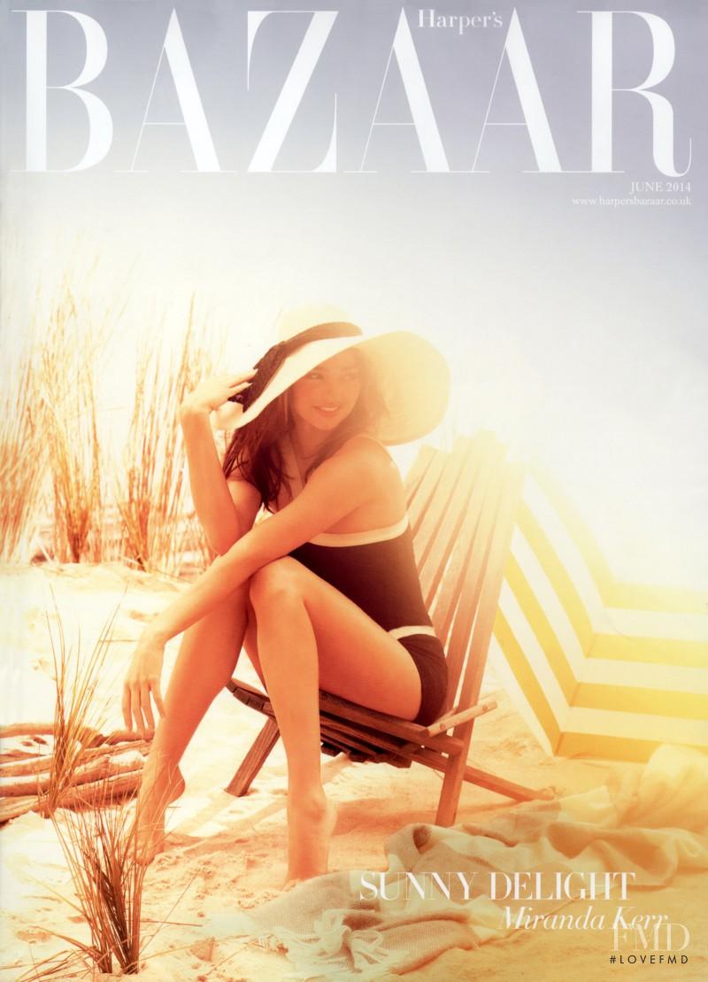 Miranda Kerr featured on the Harper\'s Bazaar UK cover from June 2014