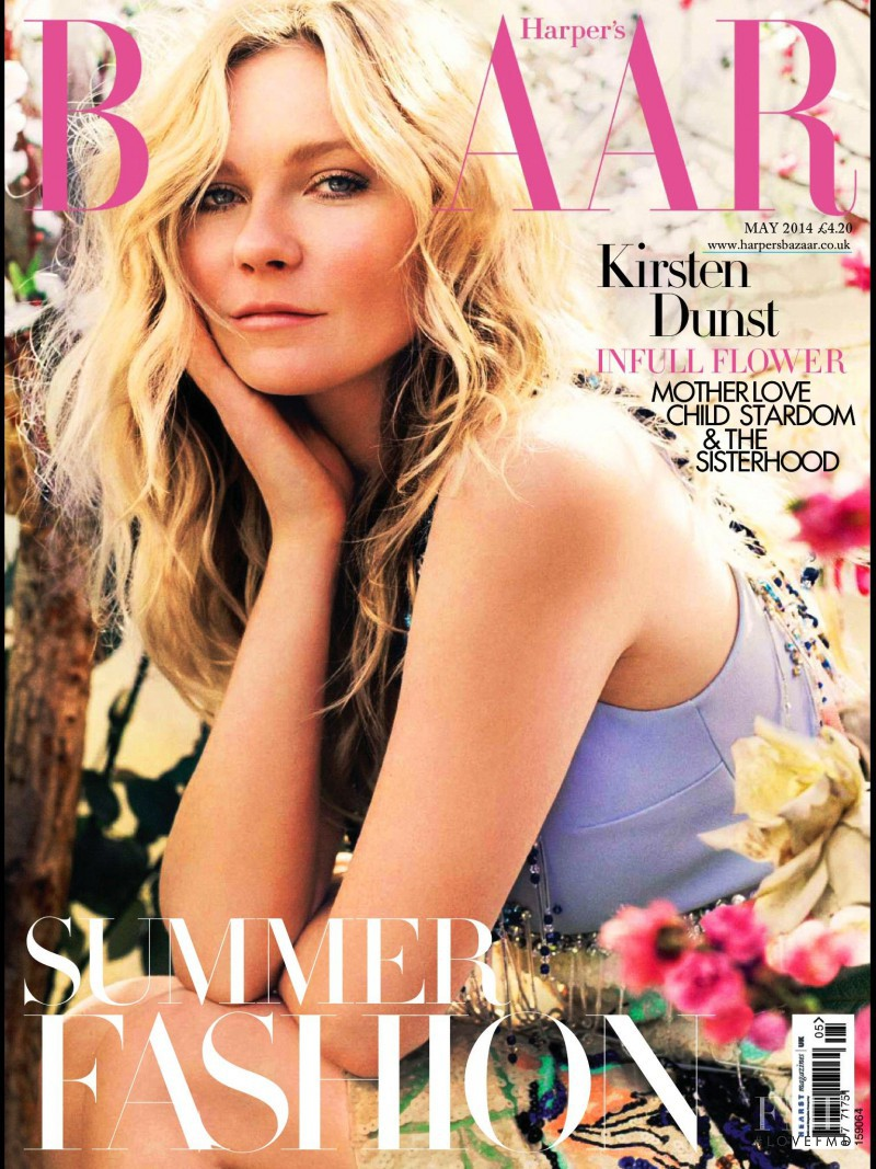 Kirsten Dunst featured on the Harper\'s Bazaar UK cover from May 2014