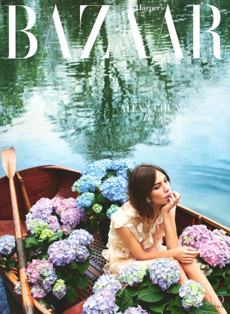 Alexa Chung featured on the Harper\'s Bazaar UK cover from July 2015