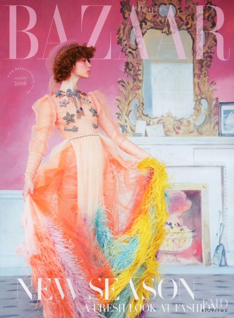 featured on the Harper\'s Bazaar UK cover from August 2016