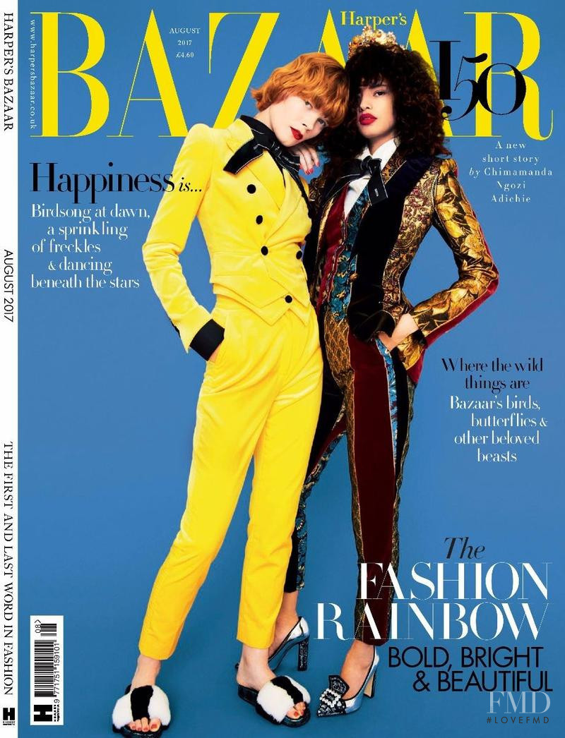 Irina Kravchenko, Malaika Firth featured on the Harper\'s Bazaar UK cover from August 2017
