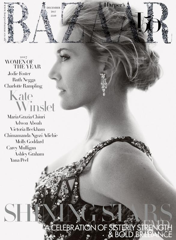 Kate Winslet featured on the Harper\'s Bazaar UK cover from December 2017