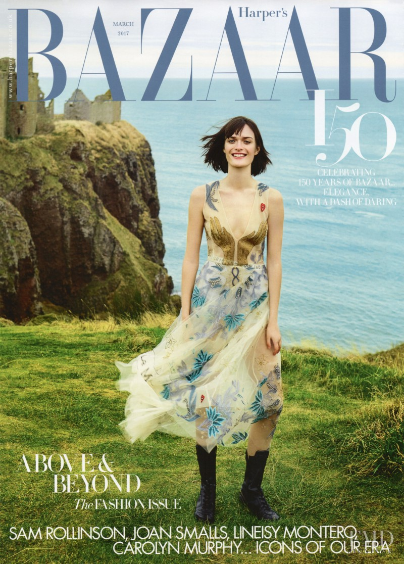 Sam Rollinson featured on the Harper\'s Bazaar UK cover from March 2017