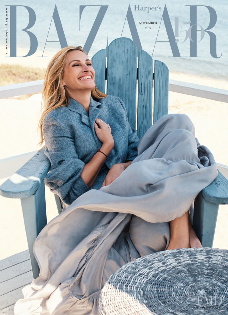 Julia Roberts featured on the Harper\'s Bazaar UK cover from November 2017