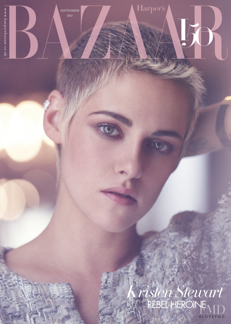 Kristen Stewart featured on the Harper\'s Bazaar UK cover from September 2017